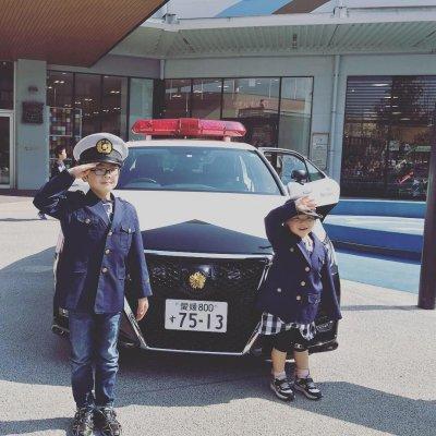 「そこの車止まりなさい!」子ども警察官が逮捕しちゃうよ☆