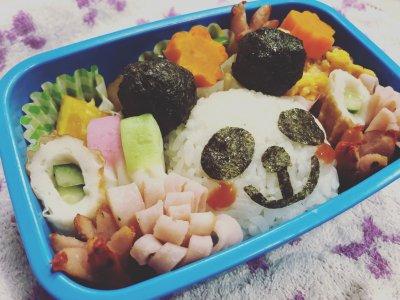 【キャラ弁】パンダさんおにぎりの作り方♡