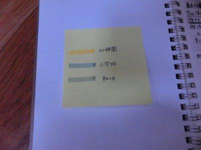 <ノート管理>フチを塗って見やすく
