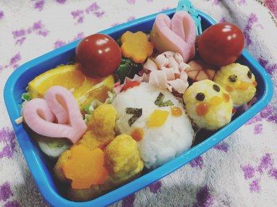 【キャラ弁】ニワトリ親子のおにぎりの作り方♡