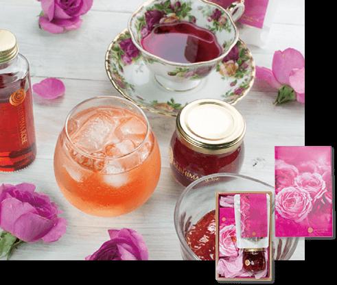 香るバラのしずく・お茶・ジャムギフトセット