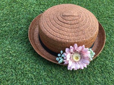 【ダイソー】プチリメイクでカンカン帽を可愛く♡