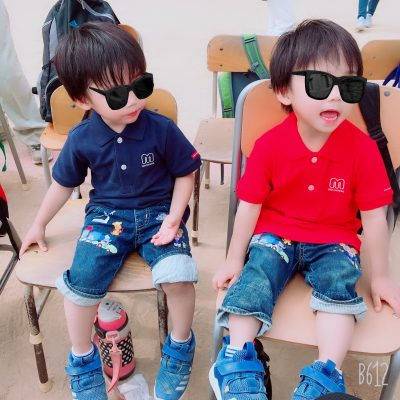【ミキハウス】親子ペアルック、運動会コーデ