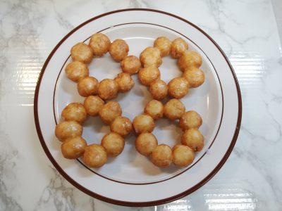 【手作りおやつ】乳・卵不使用・子供と作れるポンデリング風ドーナツ