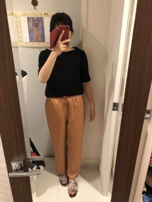 【GU】大型店限定!サテンイージーストレートパンツが大人ゆる可愛い!