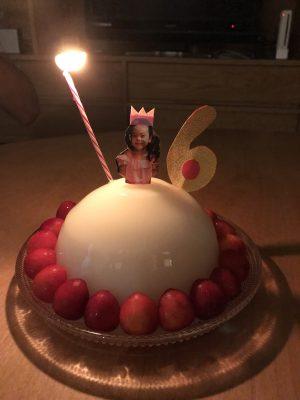 誕生日ケーキはドレスゼリーでプリンセスに♡