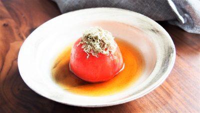 レンジで簡単!お酒にも合う「トマトの出汁煮」