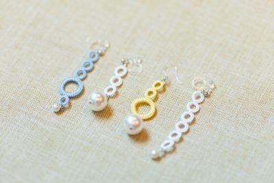 白糸刺繍(後編)|「ヒーダボーリングでつくるイヤリング&ピアス」@東京・代官山 蔦屋書店 講師:中野聖子さん