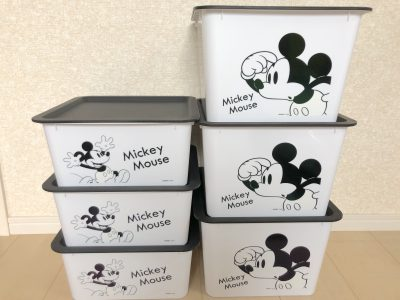 【ダイソー】ディズニースクエア収納ボックスが可愛い!