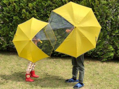 イオンのこども傘がGOOD!黄色、窓、反射テープ付きで雨の日に安心を!