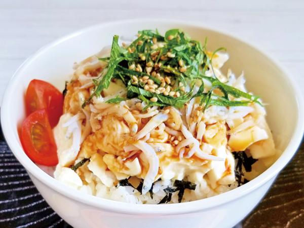 豆腐シラス丼