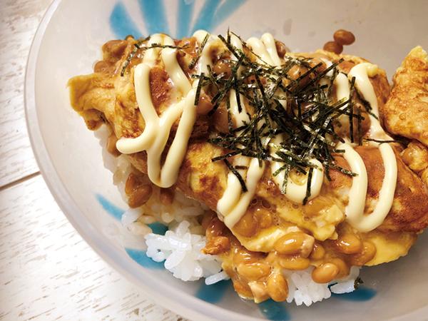 納豆オムレツ丼