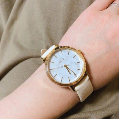 【ダイソー】オトナ女子におススメ♡大理石調の高見え腕時計!