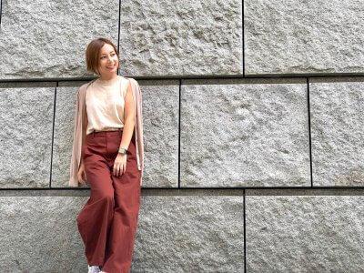 話題の【UNIQLO】ワイドフィットカーブパンツで秋の装い