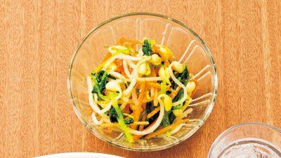 【RIZAP公式レシピ】箸休めの一品に「彩り野菜のゴマ酢和え」