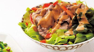 【RIZAP公式レシピ】たんぱく質豊富な満足の一品「牛しゃぶのゴマだれ」