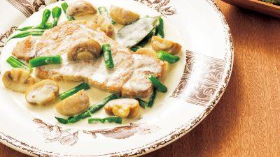 【RIZAP公式レシピ】しっとりやわらかい「豚ロースのクリーム煮」