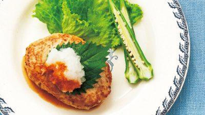 【RIZAP公式レシピ】パン粉をエノキ茸で代用「エノキの和風ハンバーグ」