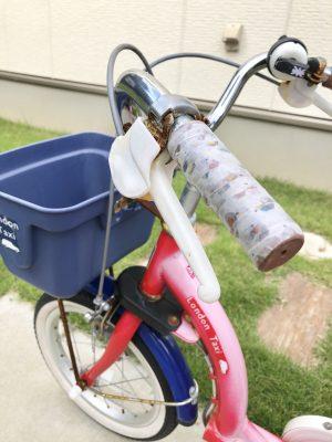 外に置いてある自転車のハンドルがベトベトに…家にあるもので簡単・解決!