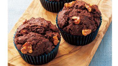 【RIZAP公式レシピ】小麦粉不使用!「おからとくるみのココアマフィン」