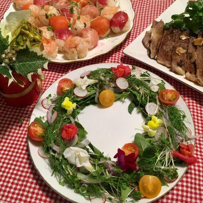 【クリスマス】華やかなリースサラダで美味しい彩りを【行事ママ掲載】