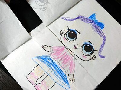 【自作】家で!幼稚園で!女子がハマるL.O.Lサプライズ着せ替えぬりえ