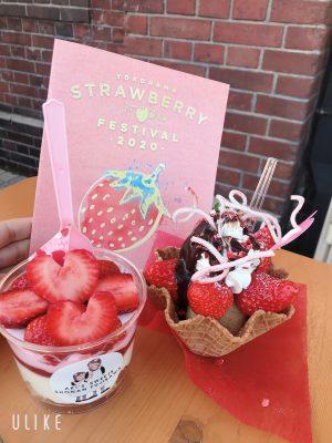【横浜赤レンガ倉庫】strawberry festivalは苺づくし